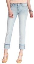 LOFT Modern Straight Cuffed Cropped Jeans in Skyline Wash