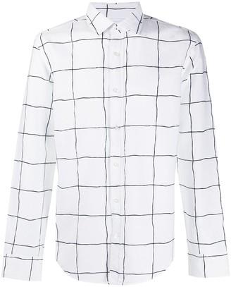 HUGO BOSS Long Sleeve Checked Print Shirt