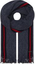 Boss Black Mouliné virgin wool scarf