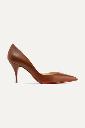 Christian Louboutin Iriclare 80 Leather Pumps - Tan