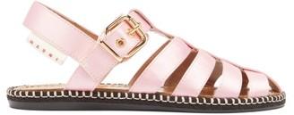 Marni Satin Fisherman Sandals - Womens - Light Pink
