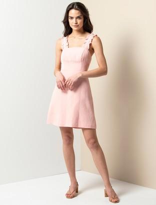 Forever New Demi Frill Mini Dress - Blush - 10