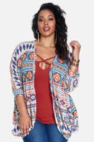 Fashion to Figure Tiara Geometric Cocoon Cardigan