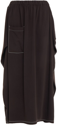 MM6 MAISON MARGIELA Satin-trimmed Draped Woven Maxi Skirt