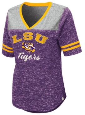 Colosseum Women's Lsu Tigers Mr Big V-neck T-Shirt
