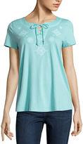 ST. JOHN'S BAY St. John's Bay Short Sleeve T-Shirt