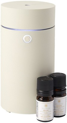 Auria Ultrasonic Diffuser And Diffuser Oil Blend Travel Set Light Grey