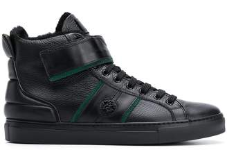 Roberto Cavalli shearling lined high-top sneakers