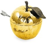 Michael Aram Gold Plated Apple Honey Pot