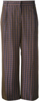 Aspesi checked cropped trousers - women - Viscose/Silk - 40