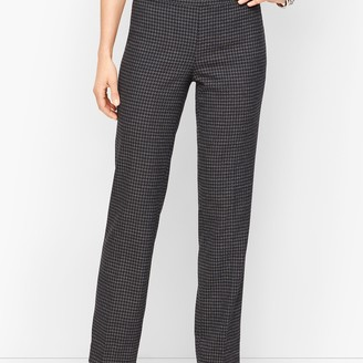Talbots Houndstooth Tweed Straight Leg Pants
