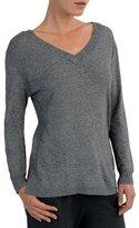 Eleventy USA V-Neck Mixed-Yarn Sweater