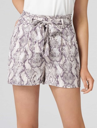 Forever New Cindy High-Waist Shorts - Snake Print - 16