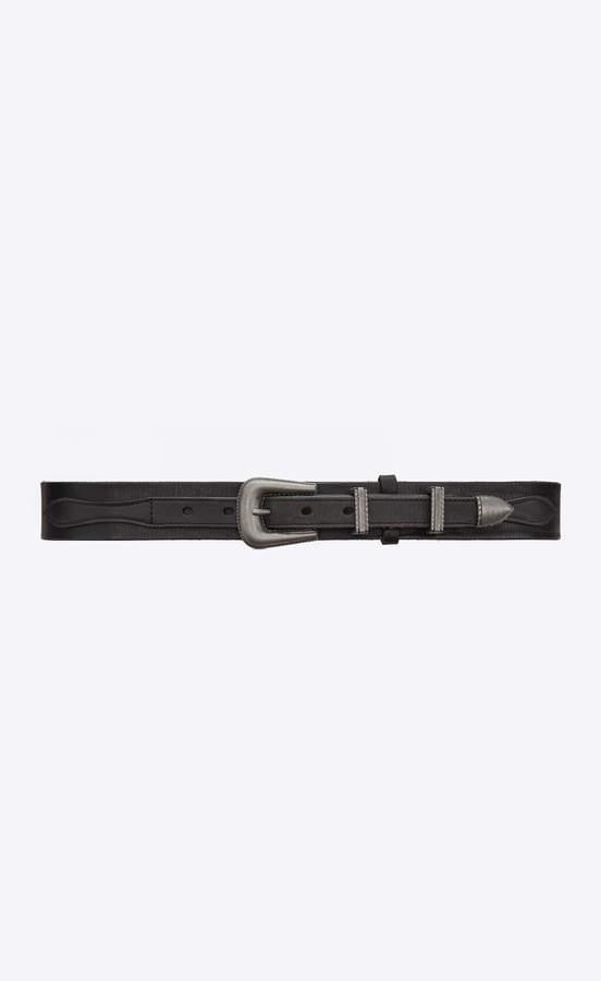 506dd36b7c Medium Belt Folk Belt In Black Vintage Leather Black 36
