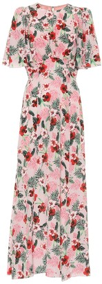 Les Rêveries Exclusive to Mytheresa Floral silk midi dress
