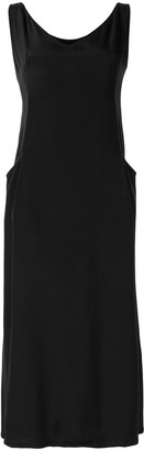 Yohji Yamamoto Pre Owned Side Pockets Midi Dress