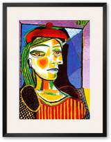 Art.com Girl with Red Beret Framed Art Print by Pablo Picasso