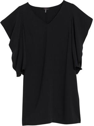 trina Trina Turk Hiroshi Ruffle Sleeve Shift Dress