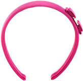 Salvatore Ferragamo bow headband - women - Cotton/Plastic/Rayon/Brass - One Size