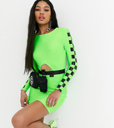 Asos Design DESIGN x Christian Cowan bodycon dress with removable belt bag