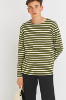 Armor Lux Fairtrade Olive Striped Grunge Jumper