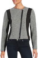 T Tahari Tweed Colorblocked Jacket