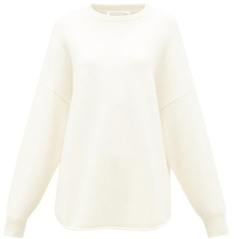 Extreme Cashmere - No. 53 Crew Hop Oversized Cashmere-blend Sweater - Ivory