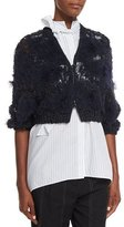 Brunello Cucinelli Intarsia Cropped Zip-Front Cardigan