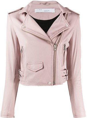 IRO Pocket Detail Leather Biker Jacket