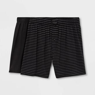 Men' triped 2pk Knit Boxer Brief - Goodfellow & CoTM