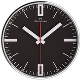 "Oliver Hemming Wall Clock with Classic Line Dial - Black (16"")"