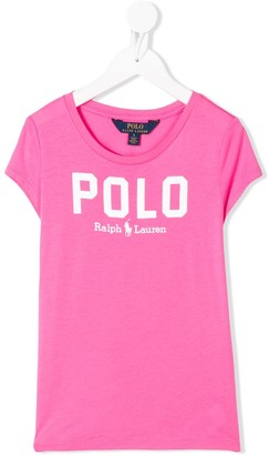 Ralph Lauren Kids printed logo crew neck T-shirt