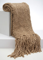 Seed Stitch Knit Scarf