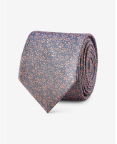 Express floral slim silk tie