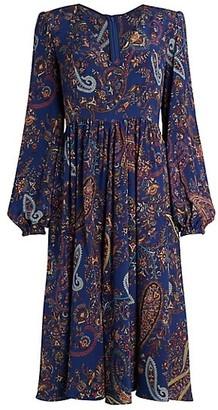 Etro Ardennes Paisley Silk Midi Dress
