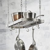 Crate & Barrel J.K. Adams Small Grey Ceiling Pot Rack