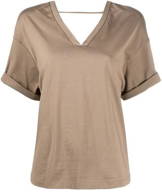 Brunello Cucinelli boxy V-neck T-shirt