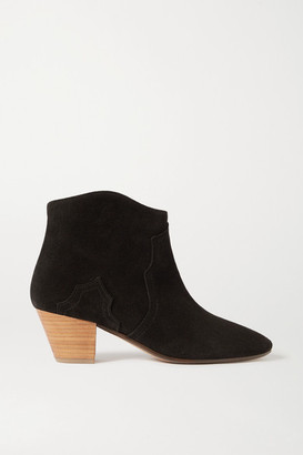 Isabel Marant Dicker Suede Ankle Boots - Black