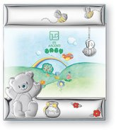 Silver Touch USA Sterling Silver Bear Honey and Bees Picture Frame