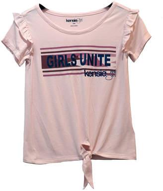 KensieGirl Tie-Front T-Shirt