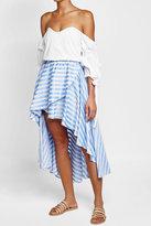 Caroline Constas Striped Cotton Skirt