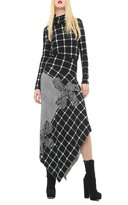 Norma Kamali Women's Side Drape Skirt - Combo Plaid