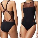 Wowforu XITENG Sexy Women's Mesh Plunge One Piece Swimsuit Backless Bathing Suit Swimwear