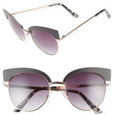 BP Women's 53Mm Cat Eye Sunglasses - Black Matte