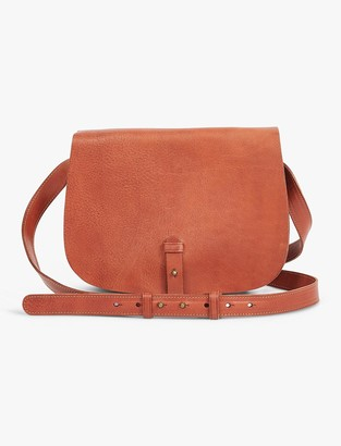 Lucky Brand The Point Leather Saddle Bag