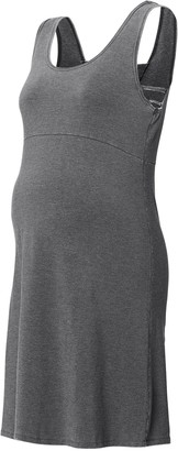 SUPERMOM Women's Maternity Damen Dress Washed Grey