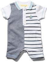 M&Co Polo shirt stripe rompersuit