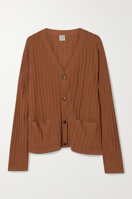Totême Vinci Ribbed-knit Cardigan