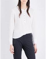 The Kooples Sport Long-sleeve cotton-blend T-shirt