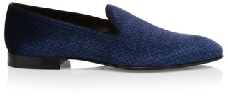 HUGO BOSS Glam Velvet Slip-On Loafers